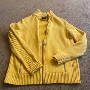 Bright yellow, thick, lands end jacket large
